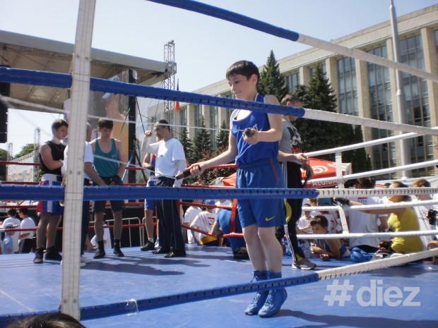 Încălzire în ringul de box