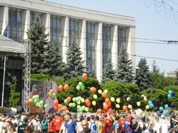 Lansarea baloanelor olimpice