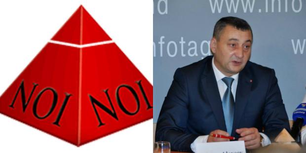 """Emblema și Președintele Partidului """"Noua Opțiune Istorică"""""""