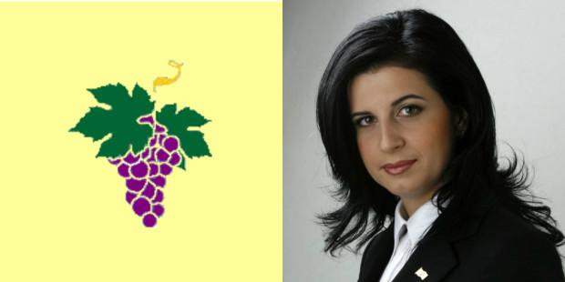 Emblema și Președintele Partidului Conservator, Natalia Nirca
