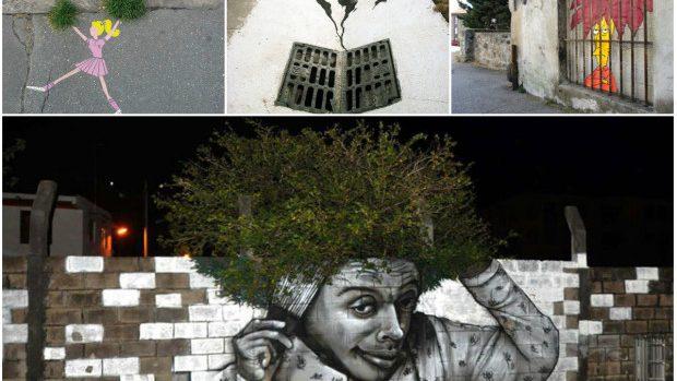 (foto) Imagini ingenioase de Street Art care se potrivesc de minune cu spațiul urban