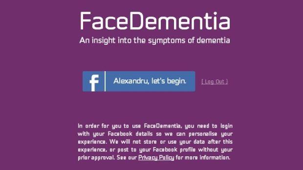 FaceDementia – o aplicație care te ajută să înțelegi mai ușor maladia Alzheimer