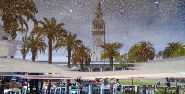 Proiect fotografic iluzoric: peisajele din San Francisco oglindite în băltoace
