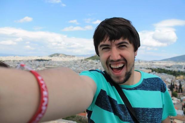Alexandru și mega-selfie-ul lui PC: Facebook/Arhivă personală