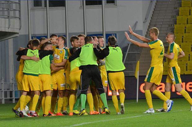 Celebrarea golului de 1-1 marcat de Zimbru. PC: FMF