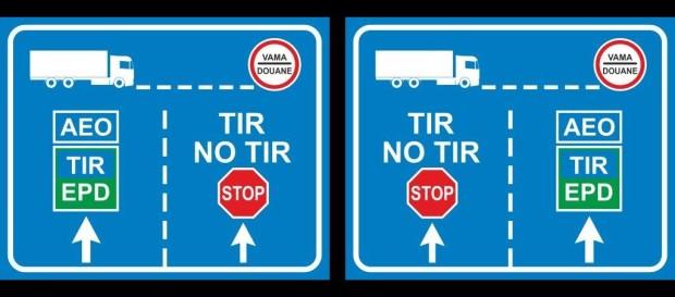 Noi indicatoare rutiere la punctele de trecere a frontierei