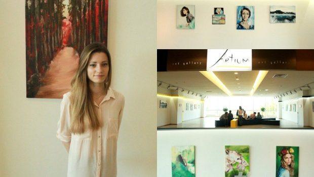 (foto) Natalia Șepeli și-a expus cea de-a doua expoziție personală de pictură