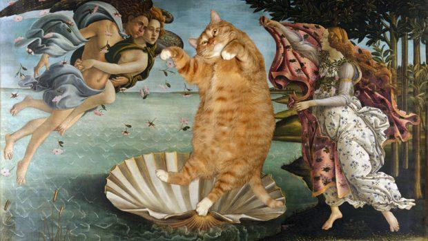 (foto) FAT CAT ART – o pisică grasă în cele mai renumite picturi