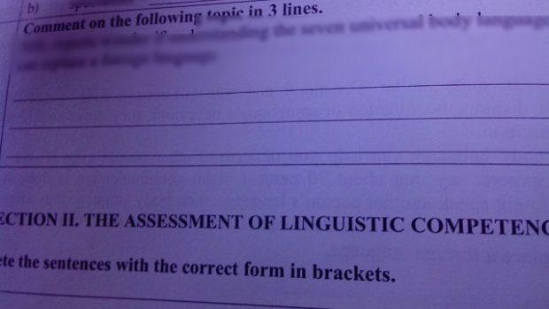 (foto) Examenele la limba străină pentru elevii din clasa a IX-a, postate pe Internet
