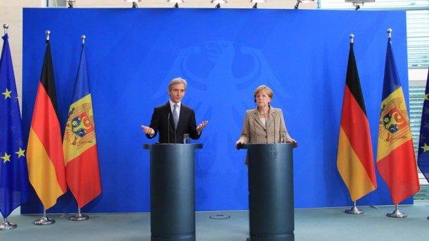 (foto) Angela Merkel: Sunt impresionată de realizările Republicii Moldova