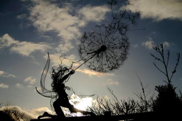 Sculptura artistului Robin Wight. PC: Facebook/Wire Sculpture by Fantasywire