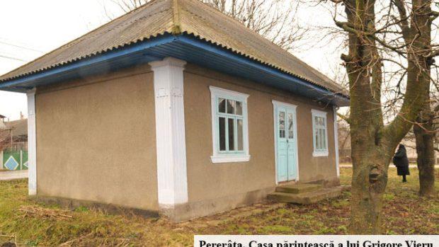 Casa părintescă a poetului Grigore Vieru va fi restaurată