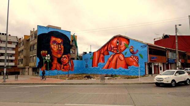 Arta stradală din Columbia, Bogotá PC: earthporm.com