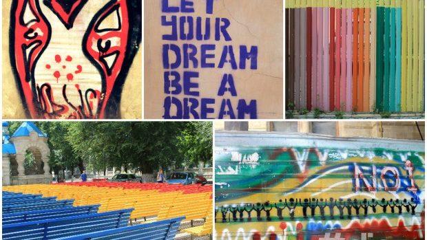 (foto) Artă urbană: Creativitate și culoare pe străzile Chișinăului