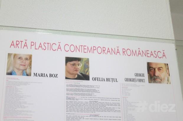 Cei trei artiști expuși: Maria Boz, Orfelia Huțul și Gheorghiță Vornicu Ghoerghe