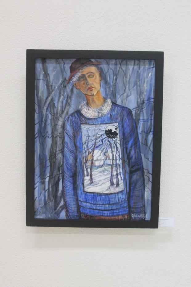 """Pictura """"Inactivul amorf"""", Ofelia Huțul"""