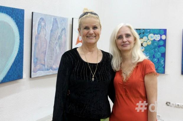 Artista Maria Boz și critic Eleonora Brigalda