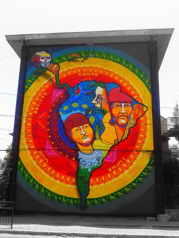 Arta stradală din Chile, Santiago de Chile PC: earthporm.com