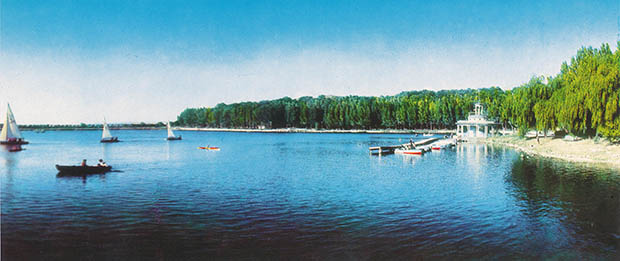Lacul din parcul Valea Morilor în trecut. PC: ecology.md