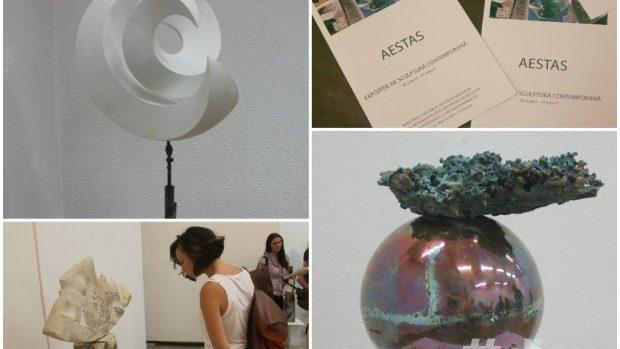 """(foto) Expoziția """"Aestas"""" a găzduit sculptura contemporană a artiștilor autohtoni"""
