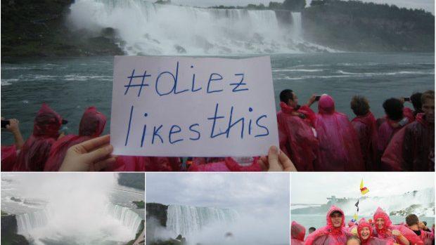 (foto, video) Cum e să faci un duș rece în apele cascadei Niagara?