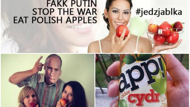 (foto) Polonezii mănâncă mere împotriva lui Putin, într-o campanie pe Twitter