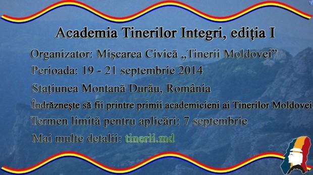 Participă la prima ediție a Academiei Tinerilor Integri