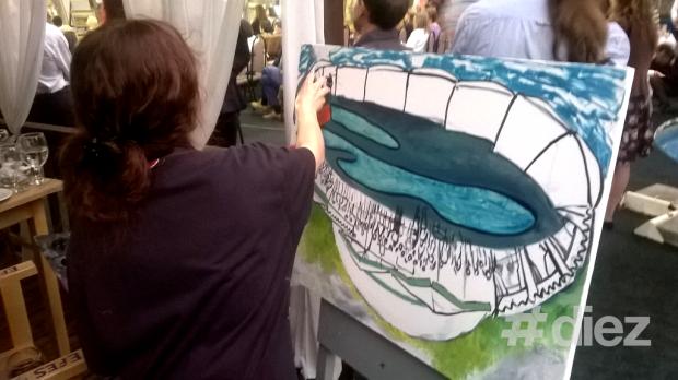 Unii artiști pictau chiar în timpul evenimentului