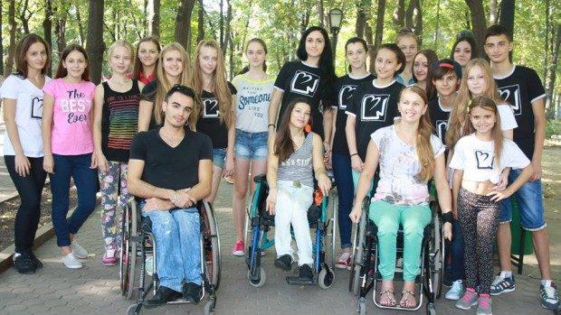 (foto) Master class de dans pentru tinerii cu dizabilități în centrul Capitalei