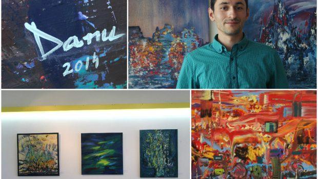 (foto) Culoare și emoție abstractă la expoziția de pictură a artistului Alexandru Danu