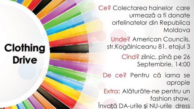 Ad Astra organizează o campanie de colectare a hainelor, organizând și un training util