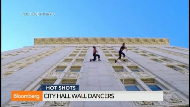 (video) Au dansat pe peretele unei primării din SUA şi au filmat totul cu camere GoPro