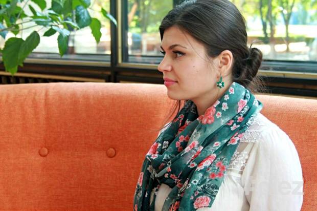Natalia Screlea discută cu Andrei Iovu situația minorităților naționale din Moldova.