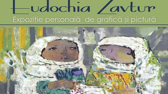 """(foto) Expoziția de pictură și grafică a Eudochiei Zavtur """"Din valurile vremii"""""""