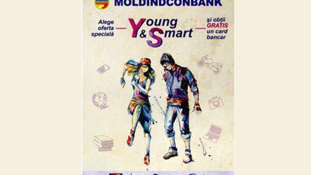 Cu oferta YOUNG & SMART obţii gratis un card bancar de la Moldindconbank