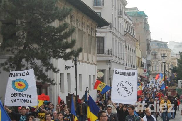 Marşul pentru Basarabia în Centrul vechi din Bucureşti