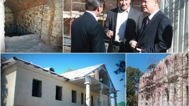 (foto) Cum se desfășoară lucrările de reconstrucție la Conacul Manuc Bei de la Hîncești