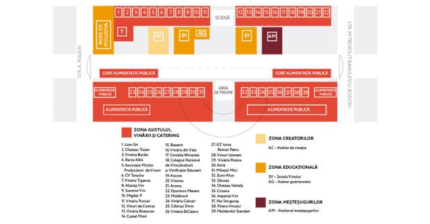 (foto) Harta amplasării activităților de Ziua Vinului din Piața Marii Adunări Naționale