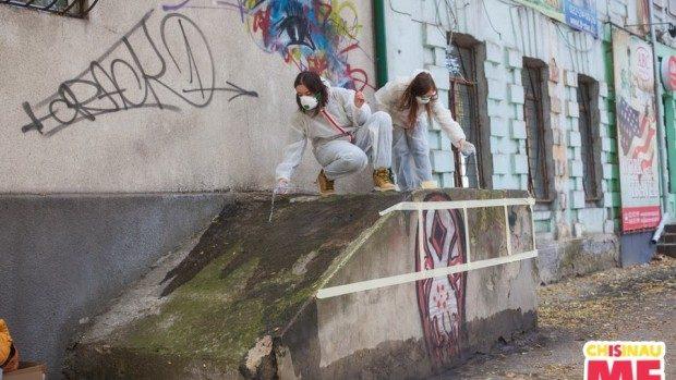 """(foto, video) Chișinău is Me: Un nou street-art """"Yellow Cab"""" a apărut în Capitală"""