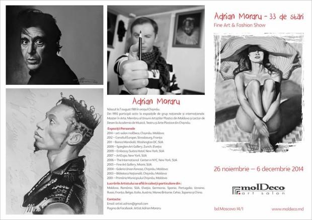 """Expoziție de pictură """"Adrian Moraru - 33 stări"""""""
