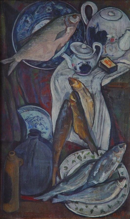 A. Baillayre, Natură statică cu pești, 1879-1961