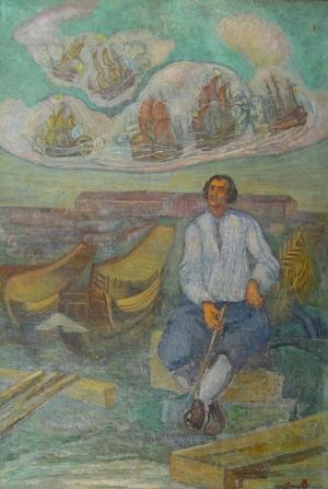 A. Baillayre, Petru I în Olanda. 1940, MNAM