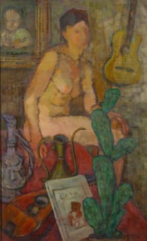 A. Baillayre, Nud. Omagiu lui Goya, 1945, MNAM