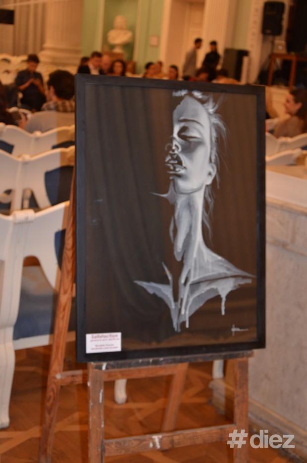 Tablou de Nicoleta Văcaru la evenimentul Art&Fashion Show