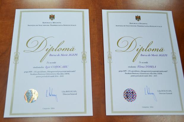 A fost acordata Bursa de Merit AGEPI pentru anul de studii 2014-2015 PC: AGEPI