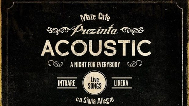 """""""Maze Cafe"""" te invită la Acoustic Night cu Silvia Alegro"""