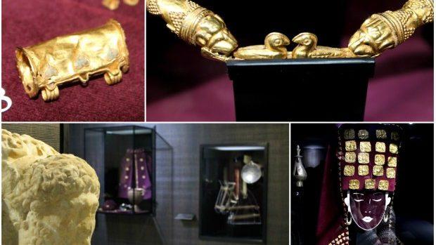 """(foto) Vestigii de aur și argint la expoziția """"Comorile trecutului"""""""