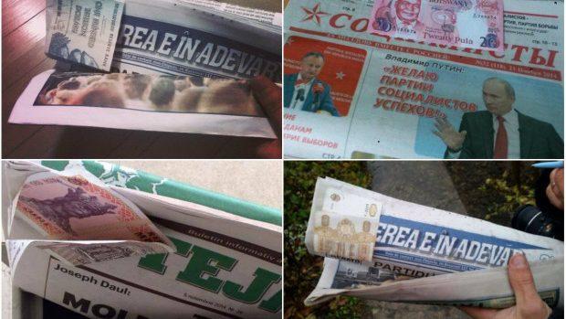 (foto) Flashmob pe Facebook: Ție ce bancnotă ți-a picat în ziarul electoral?