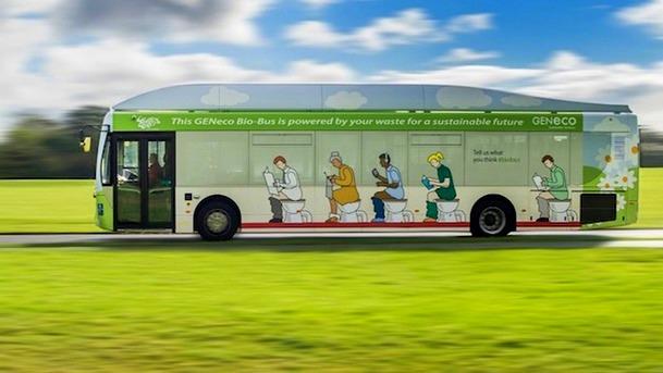 (foto, video) Bio-Bus, primul autobuz alimentat cu deșeuri umane