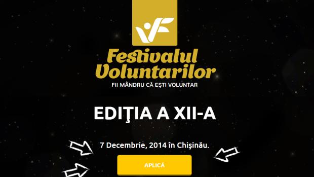 Mai ai două zile ca să aplici la Festivalul Voluntarilor 2014